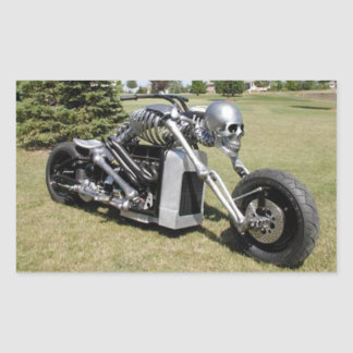Skeleton Style Motorcycle Sticker