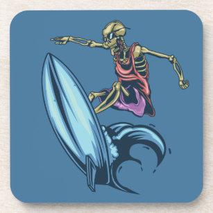 Skeleton Surfer Riding The Waves Coaster