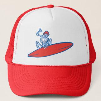Skeleton Surfer Trucker Hat