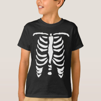 Skeleton t shirt for kids   Halloween Ribcage