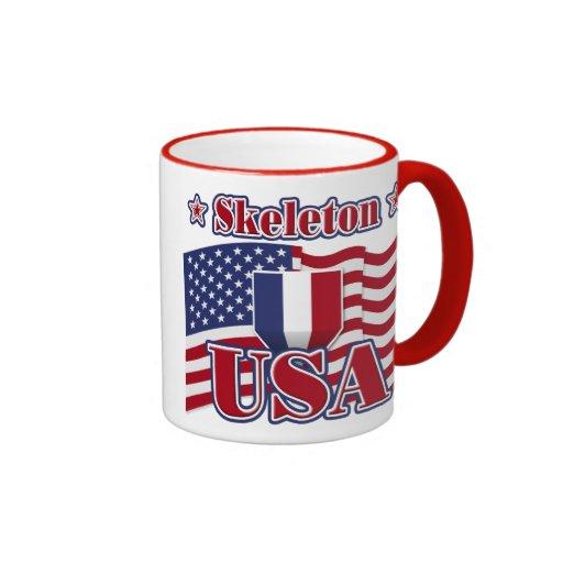 Skeleton USA Coffee Mugs