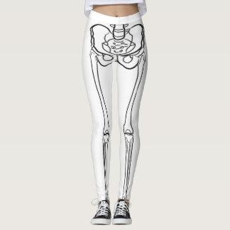Skeleton White Leggings