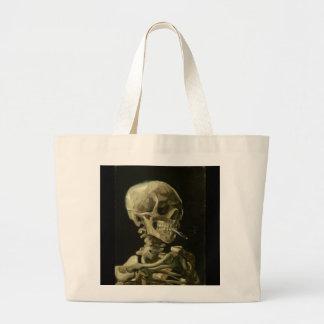 Skeleton with Cigarette 1886 Tote Jumbo Tote Bag