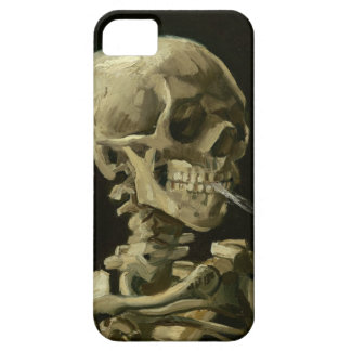 Skeleton with cigarette by Van Gogh Case For iPhone 5/5S
