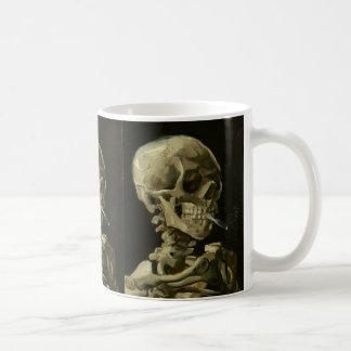 Skeleton with cigarette by Van Gogh Coffee Mug