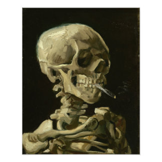 Skeleton with cigarette by Van Gogh Photographic Print