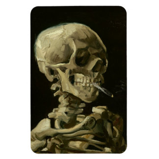 Skeleton with cigarette by Van Gogh Flexible Magnet