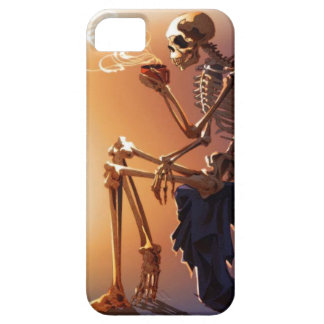 skeleton with coffee on iphone case iPhone 5 cover