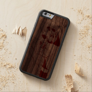 skeleton with hat and tie walnut iPhone 6 bumper case