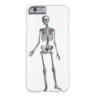 Skeleton with heart graphic print barely there iPhone 6 case