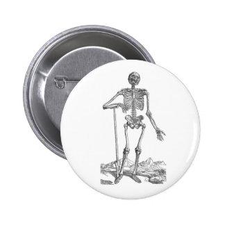 Skeleton with Shovel 6 Cm Round Badge
