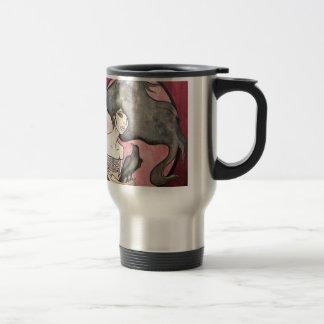 Skeleton Woman with Raven Travel Mug