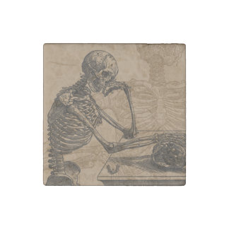 Skeletons and Death Stone Magnet