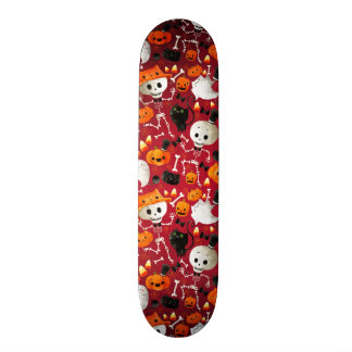 Skeletons and Pumpkins Pattern Skate Boards