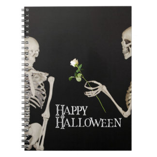 Skeletons Funny Romantic Happy Halloween Notebook