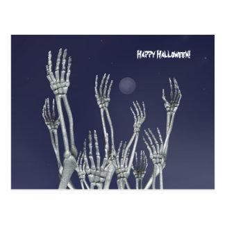 Skeletons - Halloween Postcard