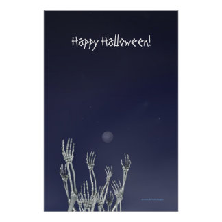 Skeletons - Halloween Poster