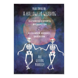 Skeletons/Halloween Theme/ Wedding Invitation