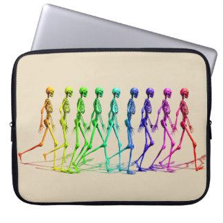 Skeletons Walking Laptop Sleeve
