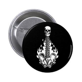 Skelguitar 6 Cm Round Badge