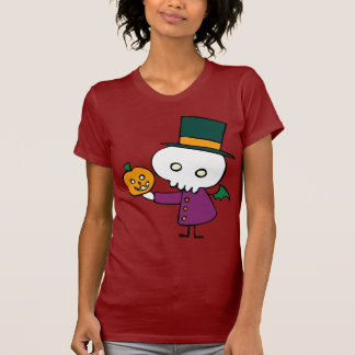 Skellie with Pumpkin Tee Shirt