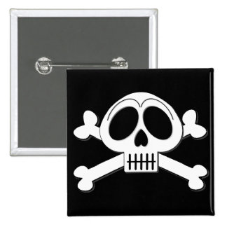 Skelly Basic Cute Skull and Crossbones 15 Cm Square Badge