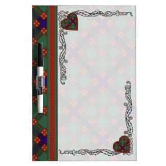 Skene clan Plaid Scottish tartan Dry Erase Board