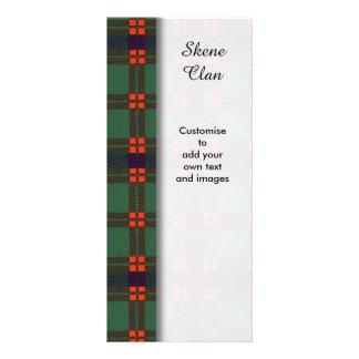 Skene clan Plaid Scottish tartan Rack Card Template