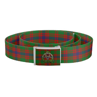 Skene Tartan And Celtic Trinity Knot Belt