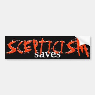 Skepticism Saves Car Bumper Sticker