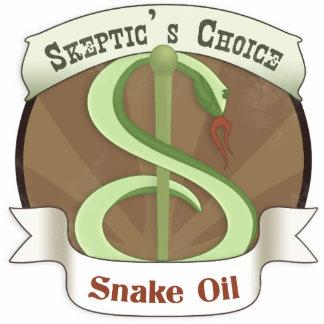 Skeptic's Choice Snake Oil Photo Sculpture Badge