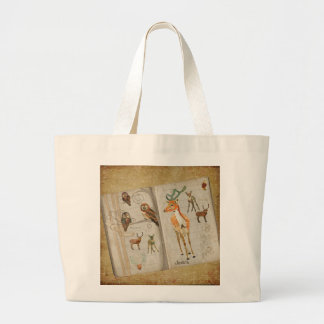 Sketch Book  of Owls & Fawns  Bag
