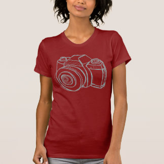 sketch camera black T-Shirt