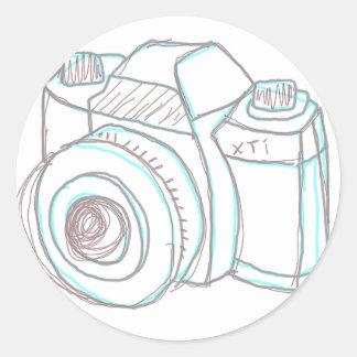 sketch camera sticker