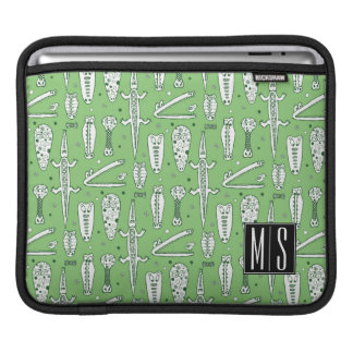 Sketch Crocodile Pattern | Monogram Sleeve For iPads