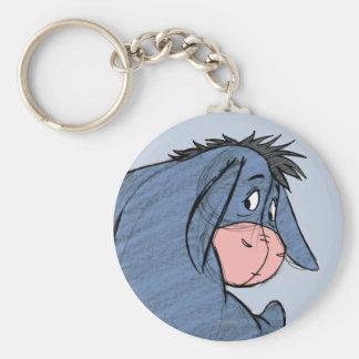 Sketch Eeyore 1 Basic Round Button Key Ring