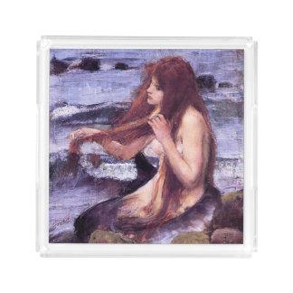 Sketch for A Mermaid by J W WaTERHOuSE Acrylic Tray