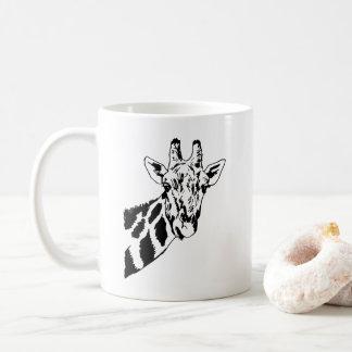 Sketch Giraffe Head Coffee Mug