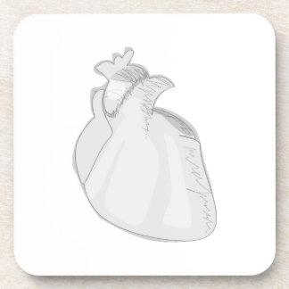 Sketch Heart Drink Coaster