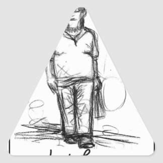 sketch man triangle sticker
