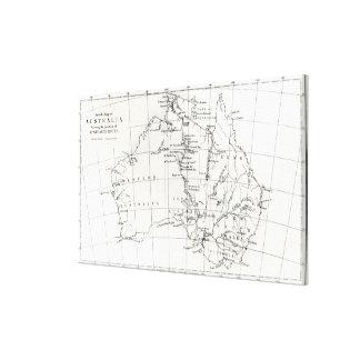 Sketch map of Australia Canvas Print
