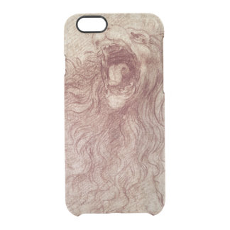 Sketch of a roaring lion clear iPhone 6/6S case