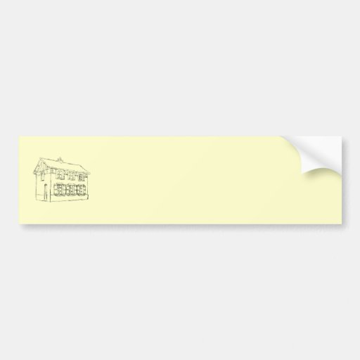 Sketch of an Old House, with Shutters. Bumper Stickers