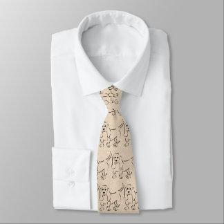 Sketch of Basset Hound on Paper Look Background Tie