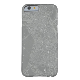 Sketch of Boston City Map Barely There iPhone 6 Case