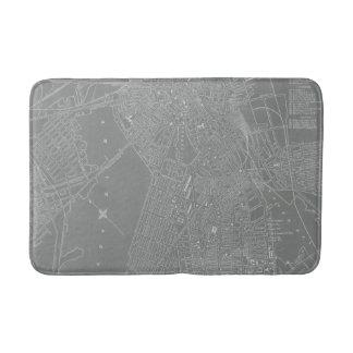 Sketch of Boston City Map Bath Mat