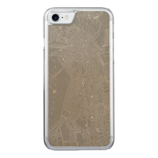 Sketch of Boston City Map Carved iPhone 8/7 Case