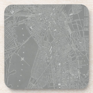 Sketch of Boston City Map Coaster
