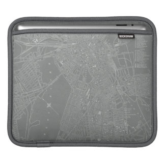 Sketch of Boston City Map iPad Sleeve