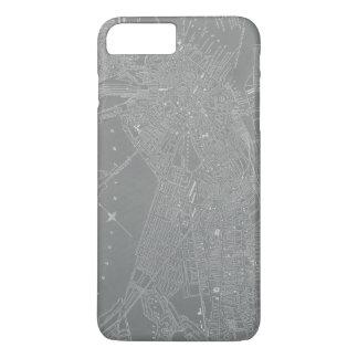 Sketch of Boston City Map iPhone 8 Plus/7 Plus Case